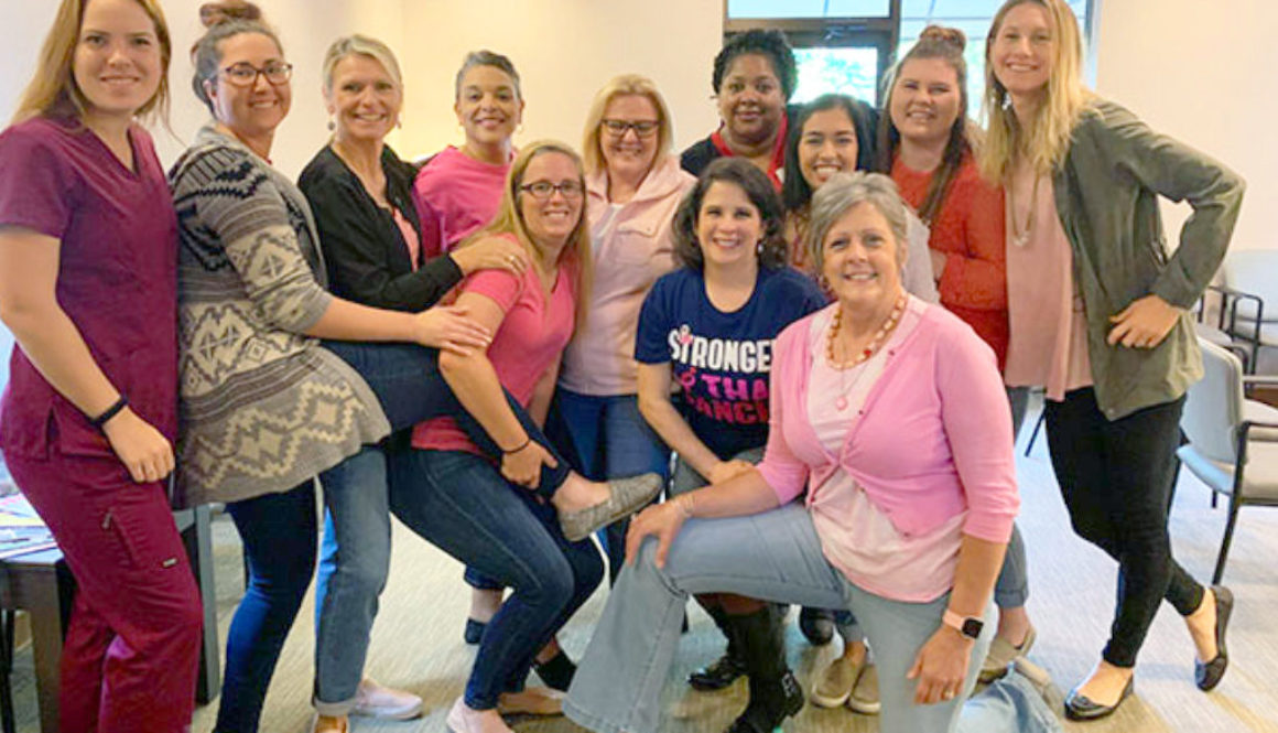 ladies in blue jeans for breast cancer awareness