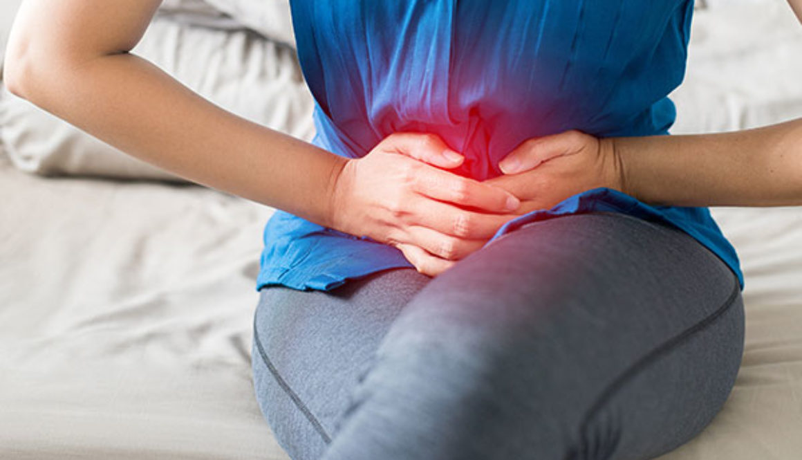 woman dealing with painful periods